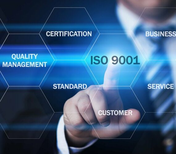 Man pointing to ISO 9001