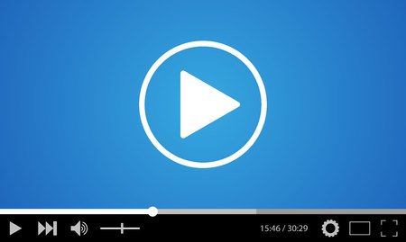48056058 - video player flat design template for web and mobile apps. vector illustration