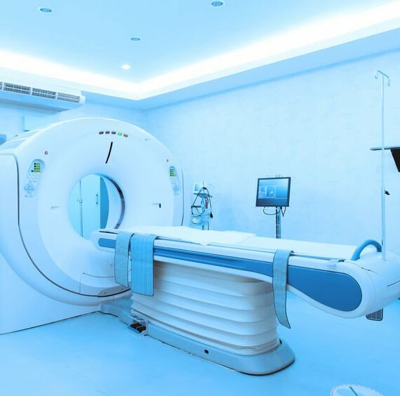 36319123 - mri scanner room take with blue filter