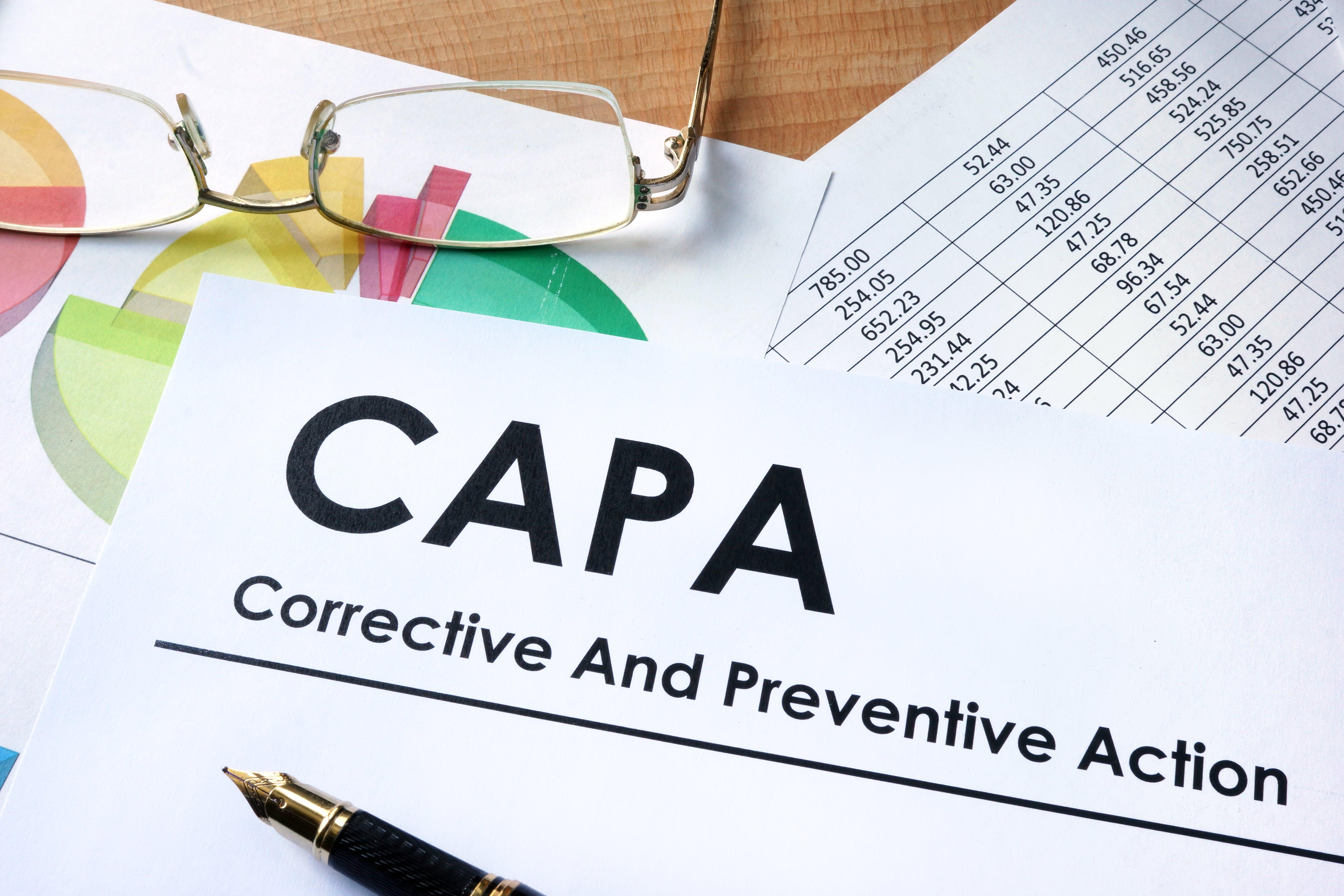 CAPA metrics document