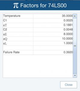 Reliability Prediction Pi Factors