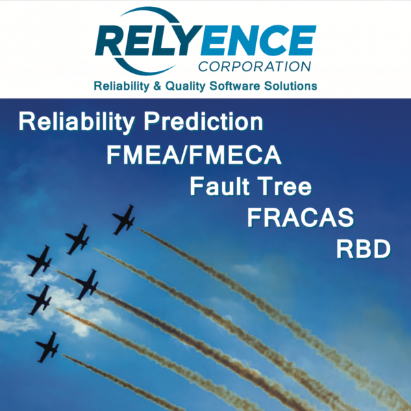 Relyence offers a complete reliability analysis toolset.