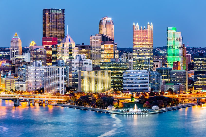 Pittsburgh Skyline with Hi-Tech Sheen