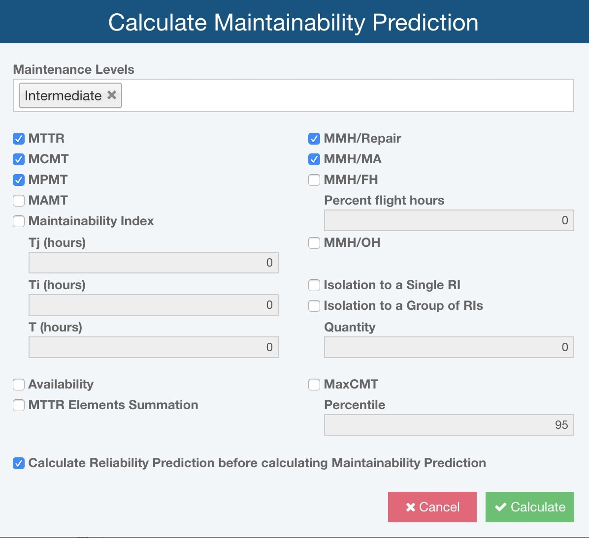 Relyence Maintainability Prediction Metrics