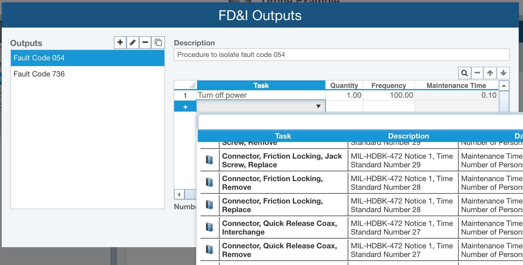 Maintainability Prediction FD&I Outputs