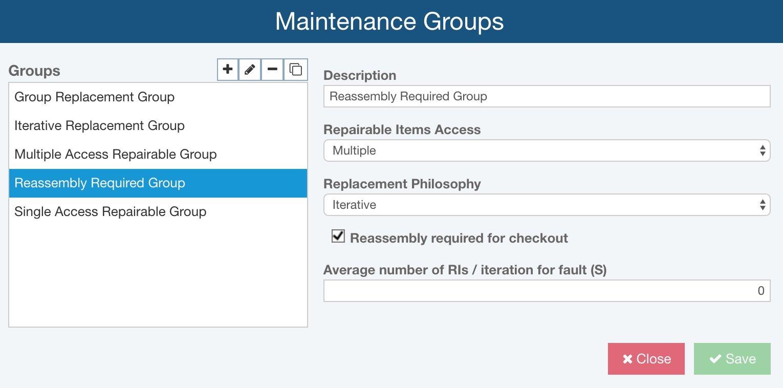 Maintenance Groups
