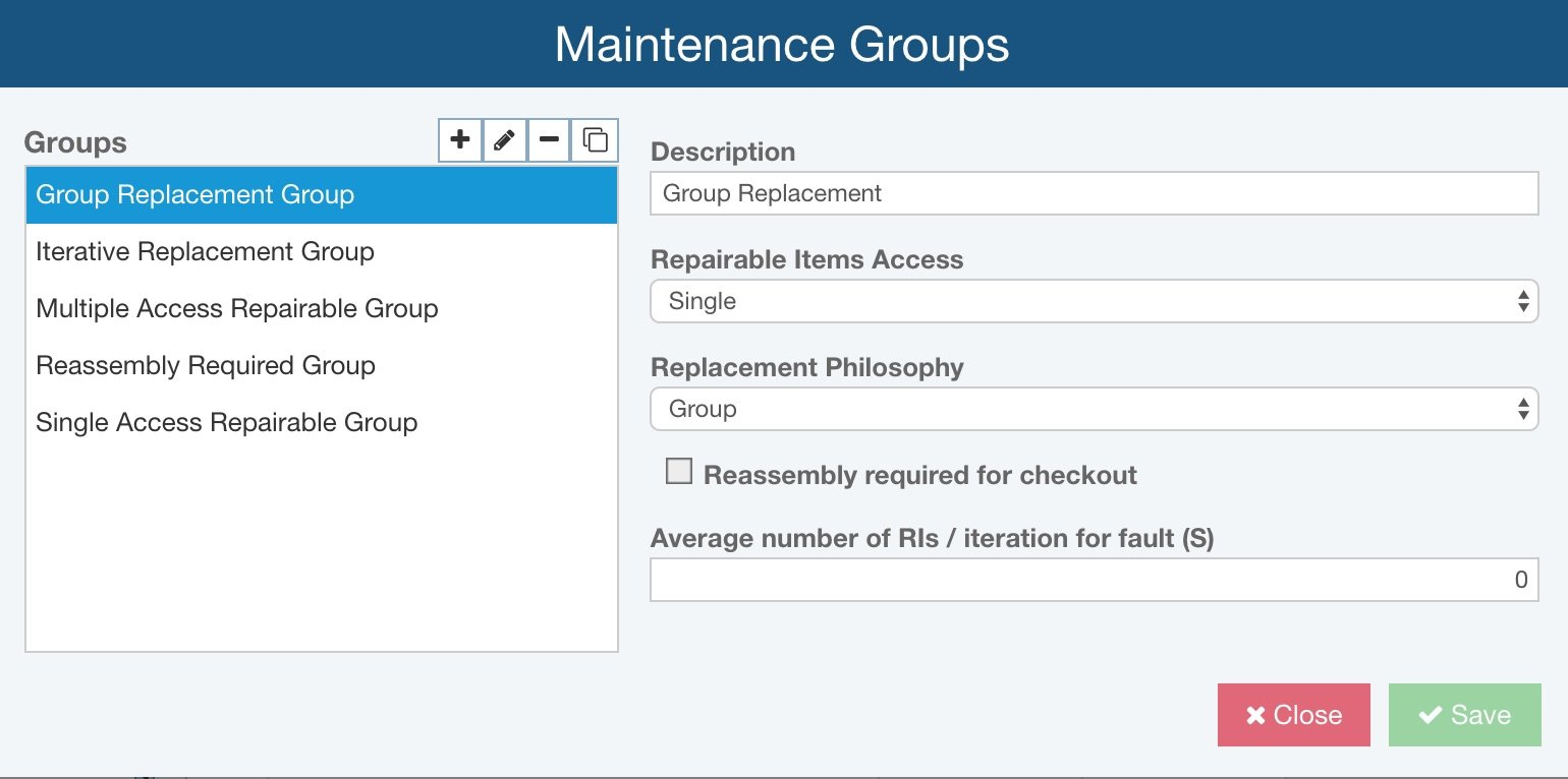 Relyence Maintainability Prediction Maintenance Group Library
