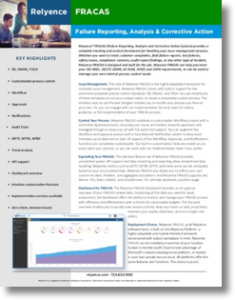 Relyence FRACAS Brochure