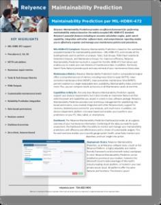 Relyence Maintainability Brochure