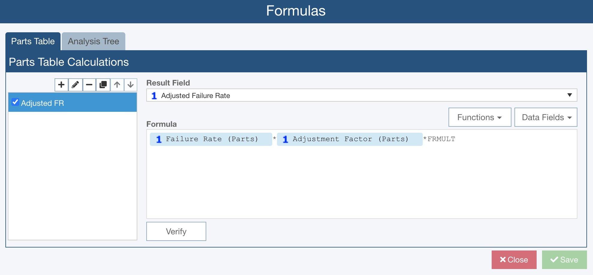 Reliability Prediction Formulas