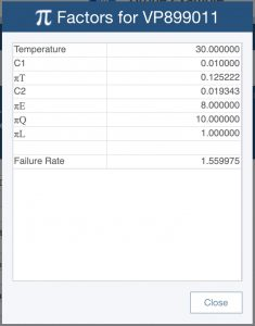 Example Pi factor calculation