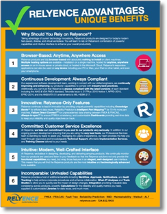 Relyence Advantages Brochure PDF Thumbnail